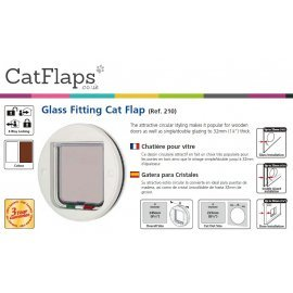 Catmate 210 Glass Fitting 4 Way Locking Cat Flap