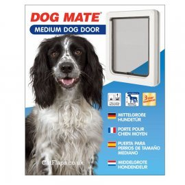 Dog Mate 215 Medium Dog Door - White