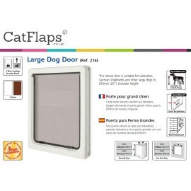 Dog Mate 216 Large Dog Door - Brown
