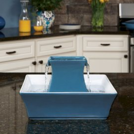 Drinkwell® Pagoda Pet Fountain -Blue