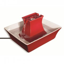 Drinkwell® Pagoda Pet Fountain - Red