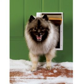 PetSafe Extreme Weather Energy Efficient Pet Door, Medium, White