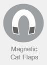Magnetic cat Flaps