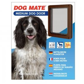 Dog Mate 215 Medium Dog Door - Brown