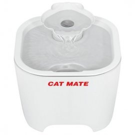 Cat Mate Shell Water Fountain Blue Base  For Cats & Small Dogs